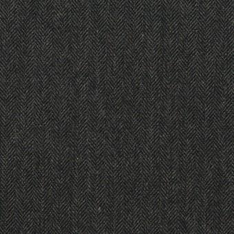 コットン&ポリウレタン×無地(チャコール)×ヘリンボーン・ストレッチ