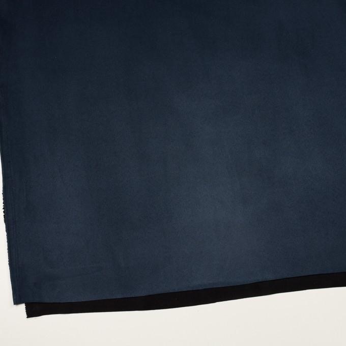 ポリエステル×無地(ミッドナイトブルー)×スエードかわり織_全4色 イメージ2