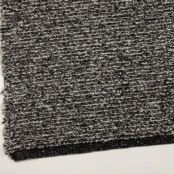 ウール&モヘア混×ミックス(アイボリー&ブラック)×ファンシーニット_イタリア製 サムネイル2