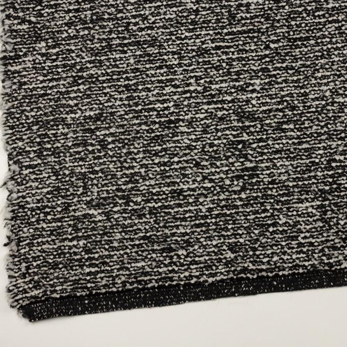 ウール&モヘア混×ミックス(アイボリー&ブラック)×ファンシーニット_イタリア製 イメージ2