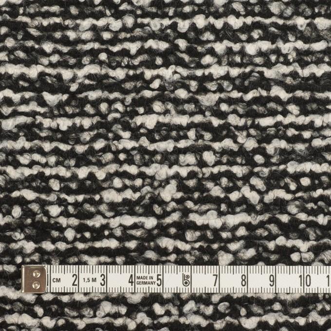 ウール&モヘア混×ミックス(アイボリー&ブラック)×ファンシーニット_イタリア製 イメージ4