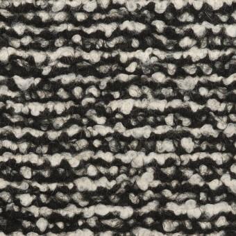 ウール&モヘア混×ミックス(アイボリー&ブラック)×ファンシーニット_イタリア製