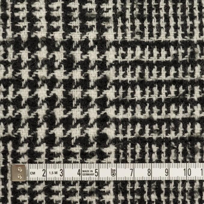 ウール×チェック(アイボリー&ブラック)×ファンシーツイード イメージ4