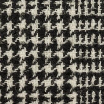 ウール×チェック(アイボリー&ブラック)×ファンシーツイード