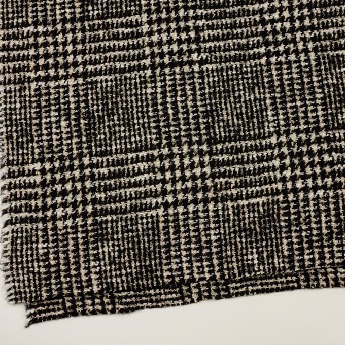 コットン&ウール混×チェック(キナリ&ブラック)×ファンシーツイード イメージ2