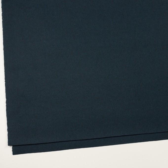 ウール×無地(ミッドナイトブルー)×フラノ(フランネル) イメージ2