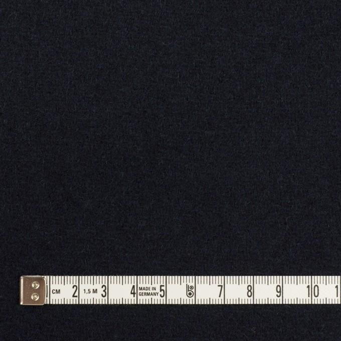 ウール×無地(ネイビー)×メルトン イメージ4