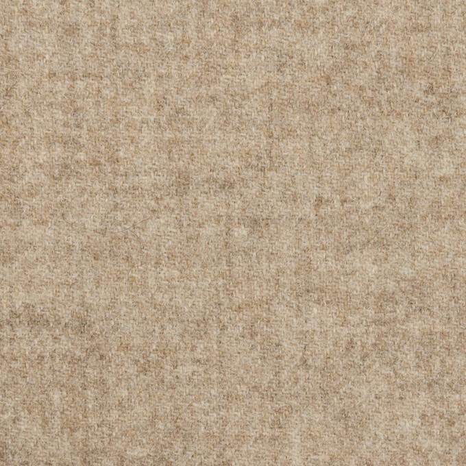 ウール×無地(グレイッシュベージュ)×ツイード イメージ1
