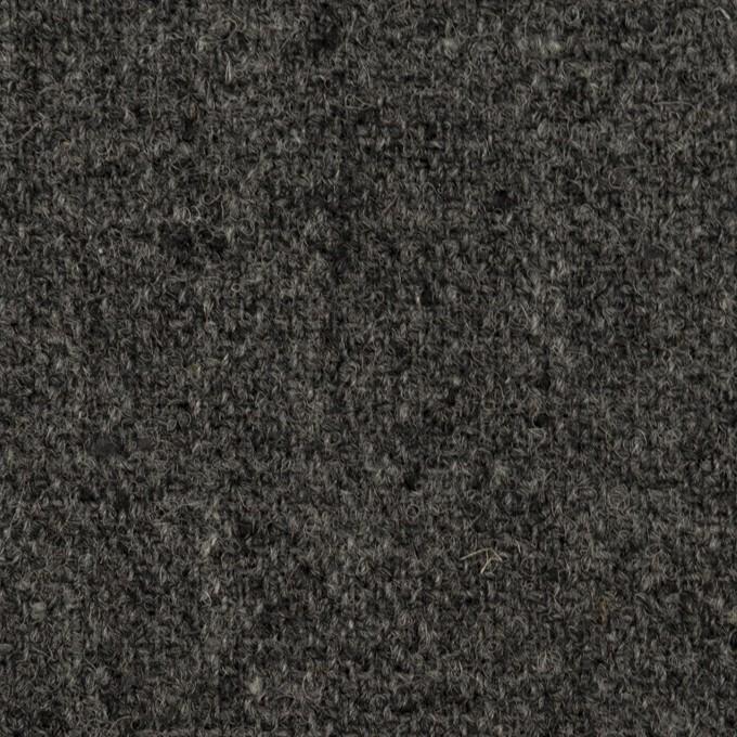 ウール×無地(チャコール)×ツイード イメージ1
