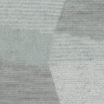ポリエステル&アクリル×幾何学模様(ブルーグレー)×ジャガードニット