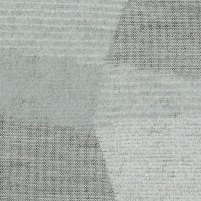 ポリエステル&アクリル×幾何学模様(ブルーグレー)×ジャガードニット イメージ1