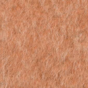 ポリエステル&ウール混×無地(ラスティーオレンジ)×フリースニット_イタリア製