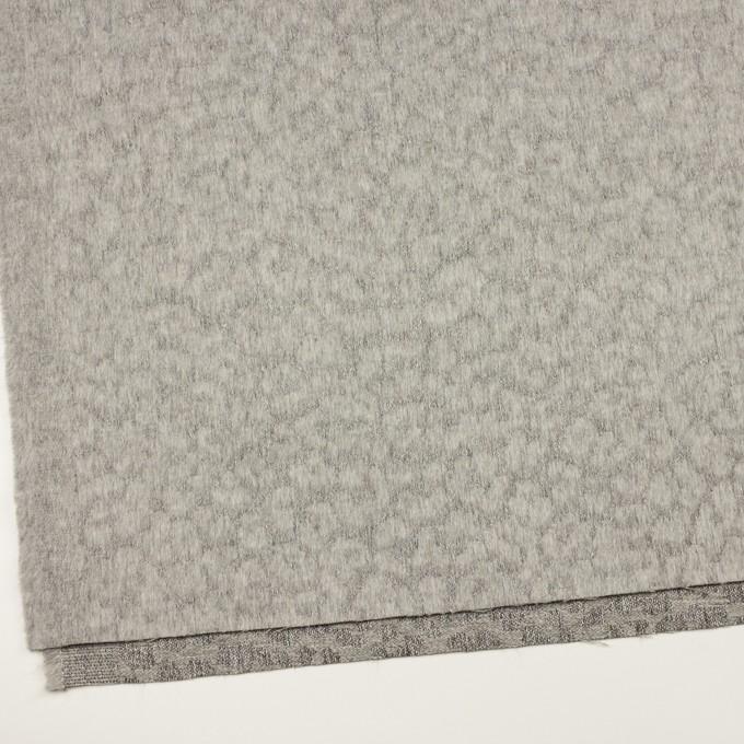 ウール&ポリエステル×レオパード(グレー)×ジャガード イメージ2
