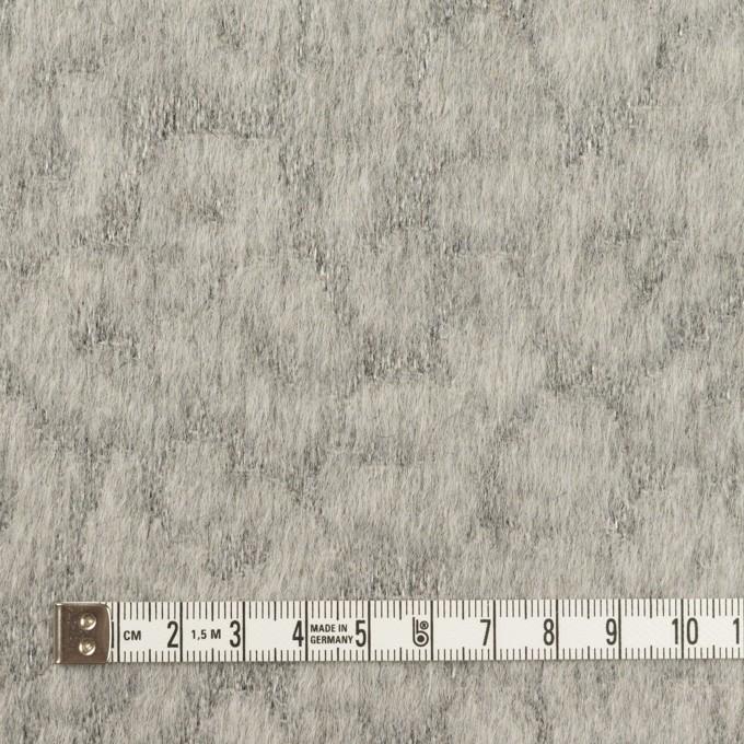 ウール&ポリエステル×レオパード(グレー)×ジャガード イメージ4