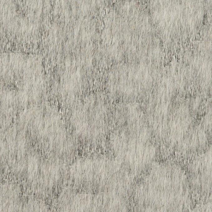 ウール&ポリエステル×レオパード(グレー)×ジャガード イメージ1