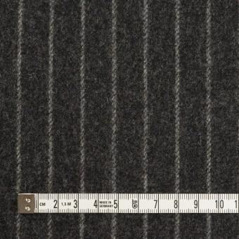ウール&ポリウレタン×ストライプ(チャコールグレー)×ツイードストレッチ サムネイル4