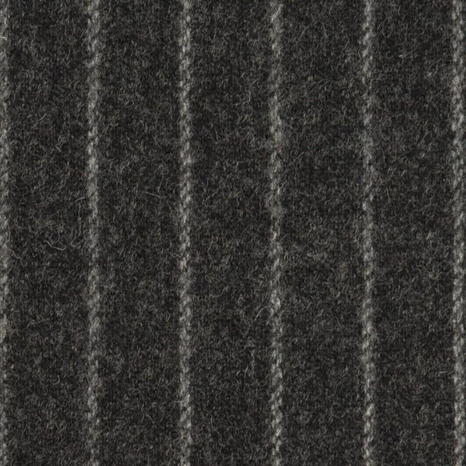 ウール&ポリウレタン×ストライプ(チャコールグレー)×ツイードストレッチ イメージ1