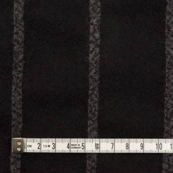ウール×ストライプ(ブラック&チャコールグレー)×ガーゼ サムネイル4