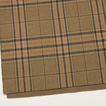 ウール×チェック(ベージュ、モカ&カーキグリーン)×かわり織 サムネイル2