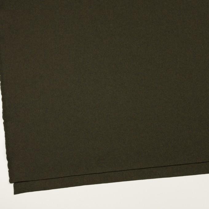 ウール×無地(ディープカーキグリーン)×フラノ(フランネル) イメージ2