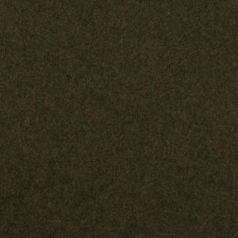 ウール×無地(ディープカーキグリーン)×フラノ(フランネル)