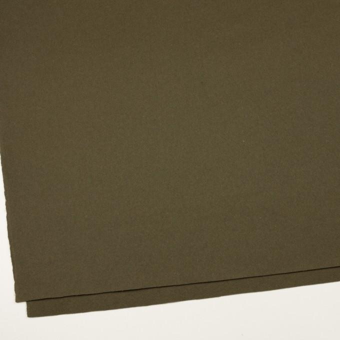 ウール×無地(カーキグリーン)×フラノ(フランネル) イメージ2