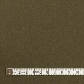 ウール×無地(カーキグリーン)×フラノ(フランネル) サムネイル4