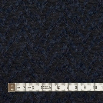 ウール&ポリエステル混×ウェーブ(ネイビー&ダークネイビー)×ジャガードニット サムネイル4