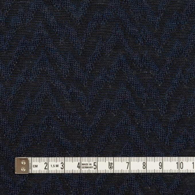 ウール&ポリエステル混×ウェーブ(ネイビー&ダークネイビー)×ジャガードニット イメージ4