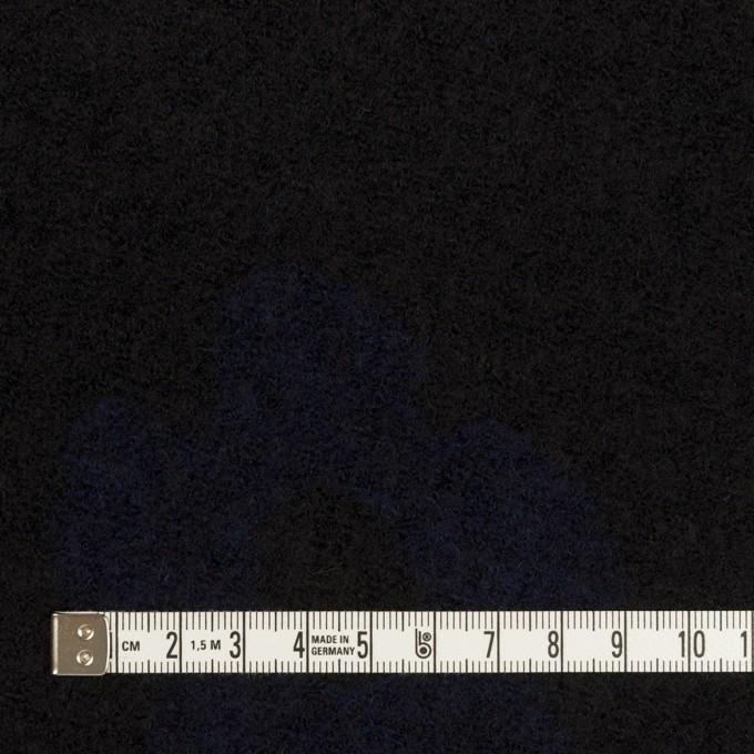ウール&ナイロン×フラワー(ブラック&ネイビー)×ループジャガードニット_全2色 イメージ4