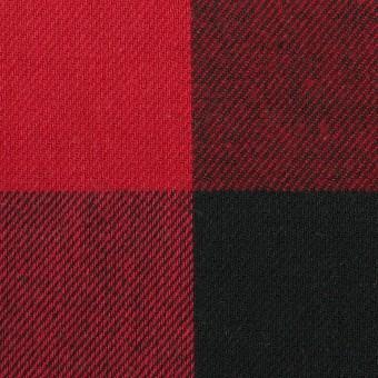 コットン×チェック(バーガンディーレッド&ブラック)×ビエラ