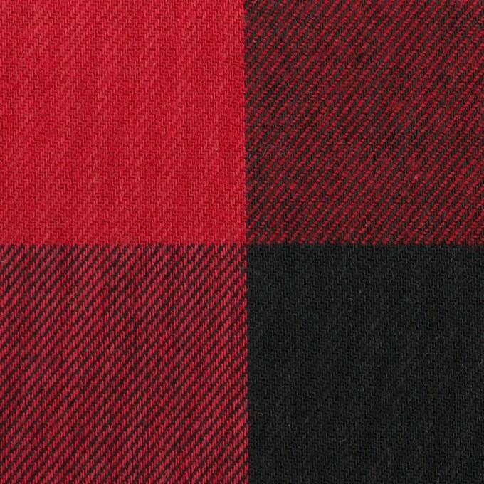 コットン×チェック(バーガンディーレッド&ブラック)×ビエラ イメージ1