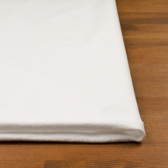 コットン&ポリウレタン×無地(ホワイト)×裏毛ニット サムネイル3
