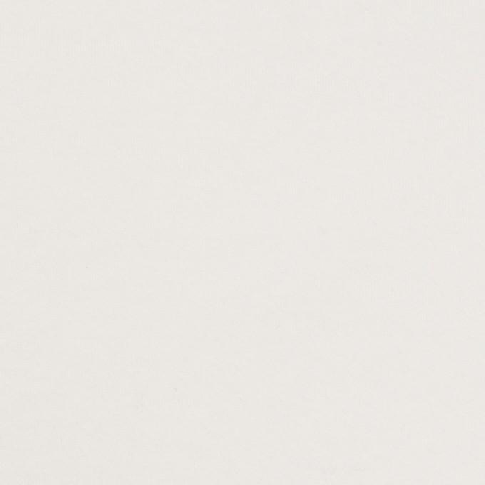 コットン&ポリウレタン×無地(ホワイト)×裏毛ニット イメージ1