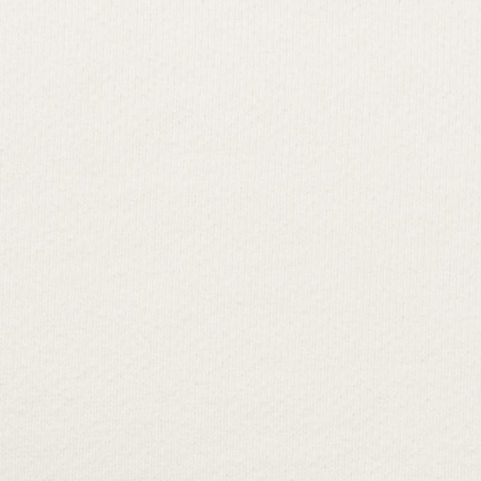 コットン×無地(オフホワイト)×裏毛ニット(裏面起毛) イメージ1