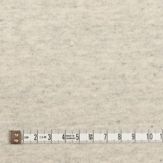 コットン×ミックス(グレー&キナリ)×裏毛ニット(裏面起毛) イメージ4