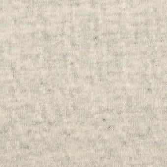 コットン×ミックス(グレー&キナリ)×裏毛ニット(裏面起毛)