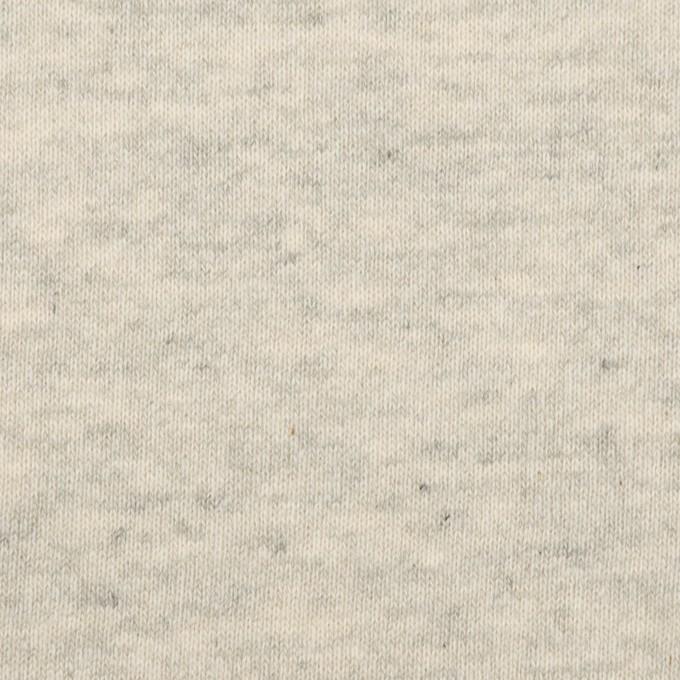 コットン×ミックス(グレー&キナリ)×裏毛ニット(裏面起毛) イメージ1