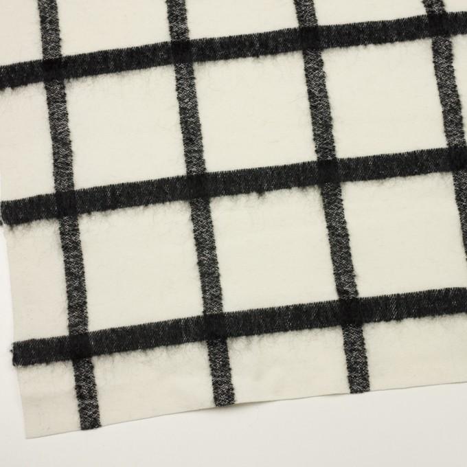 ウール&ナイロン混×チェック(エクリュ&ブラック)×カルゼ イメージ2