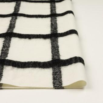 ウール&ナイロン混×チェック(エクリュ&ブラック)×カルゼ サムネイル3