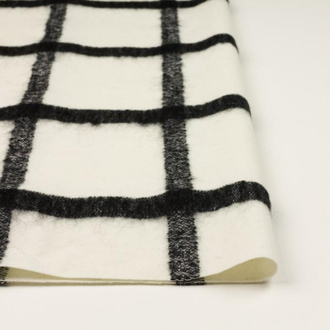 ウール&ナイロン混×チェック(エクリュ&ブラック)×カルゼ イメージ3