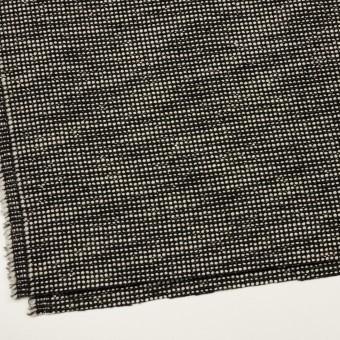 ウール&コットン混×ミックス(ブラック&エクリュ)×ファンシーツイード_イタリア製 サムネイル2