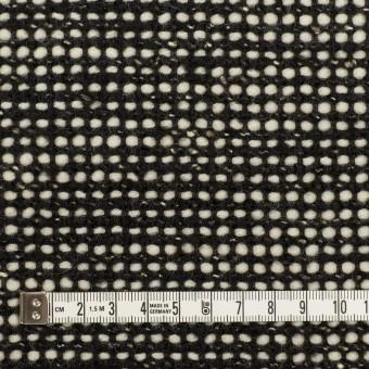 ウール&コットン混×ミックス(ブラック&エクリュ)×ファンシーツイード_イタリア製 サムネイル4