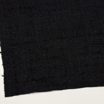 ウール&コットン混×チェック(ブラック)×ファンシーツイード サムネイル2