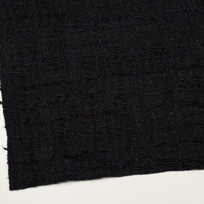 ウール&コットン混×チェック(ブラック)×ファンシーツイード イメージ2