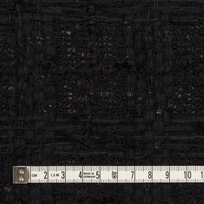 ウール&コットン混×チェック(ブラック)×ファンシーツイード イメージ4
