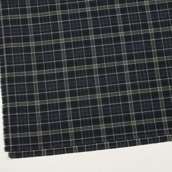 コットン×チェック(ネイビー&ブラック)×ビエラ サムネイル2