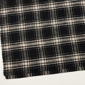 コットン×チェック(ブラック&キナリ)×フランネル サムネイル2