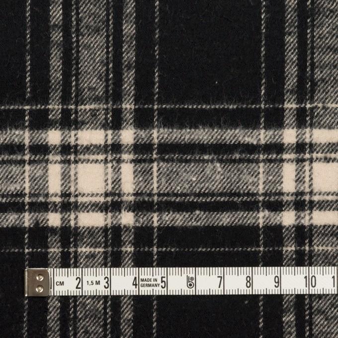 コットン×チェック(ブラック&キナリ)×フランネル イメージ4
