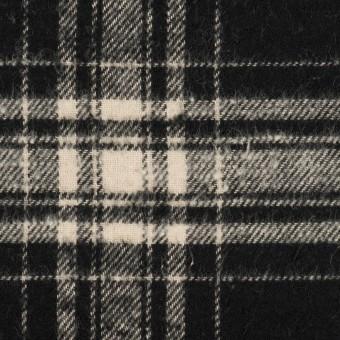 コットン×チェック(ブラック&キナリ)×フランネル